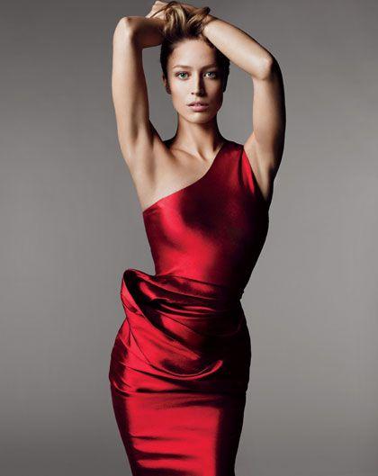 Raquel Zimmermann, Photograph by Mert Alas and Marcus Piggott. Published in Vogue, April 2011.