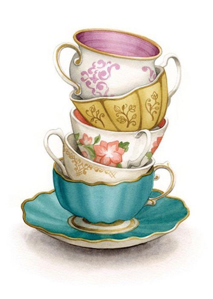 Bilder zum Nachzeichnen für Anfänger und Fortgeschrittene - Archzine.net #coffeecup