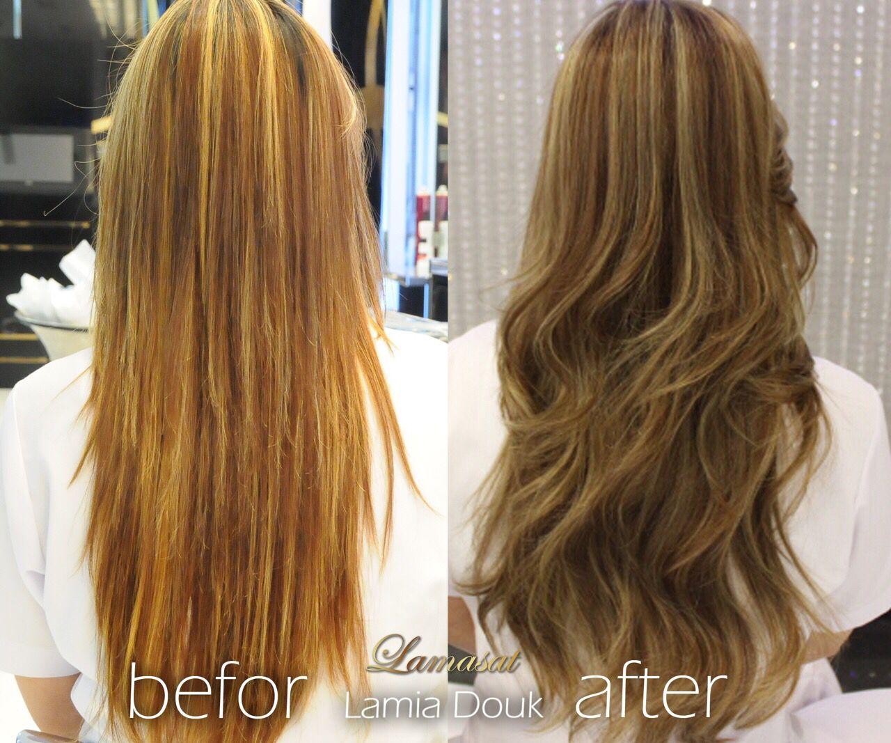 Hair Coloration By Lamia Douk Lamasat Beauty Center المختصة لمياء الضوق Low Light Color لمسات جدة فرع الخالدية لمسات ب Hair Styles Long Hair Styles Beauty
