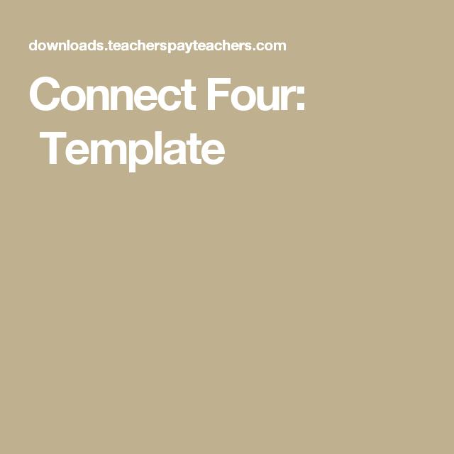 Connect Four: Template | Math games/activities | Pinterest | Math ...