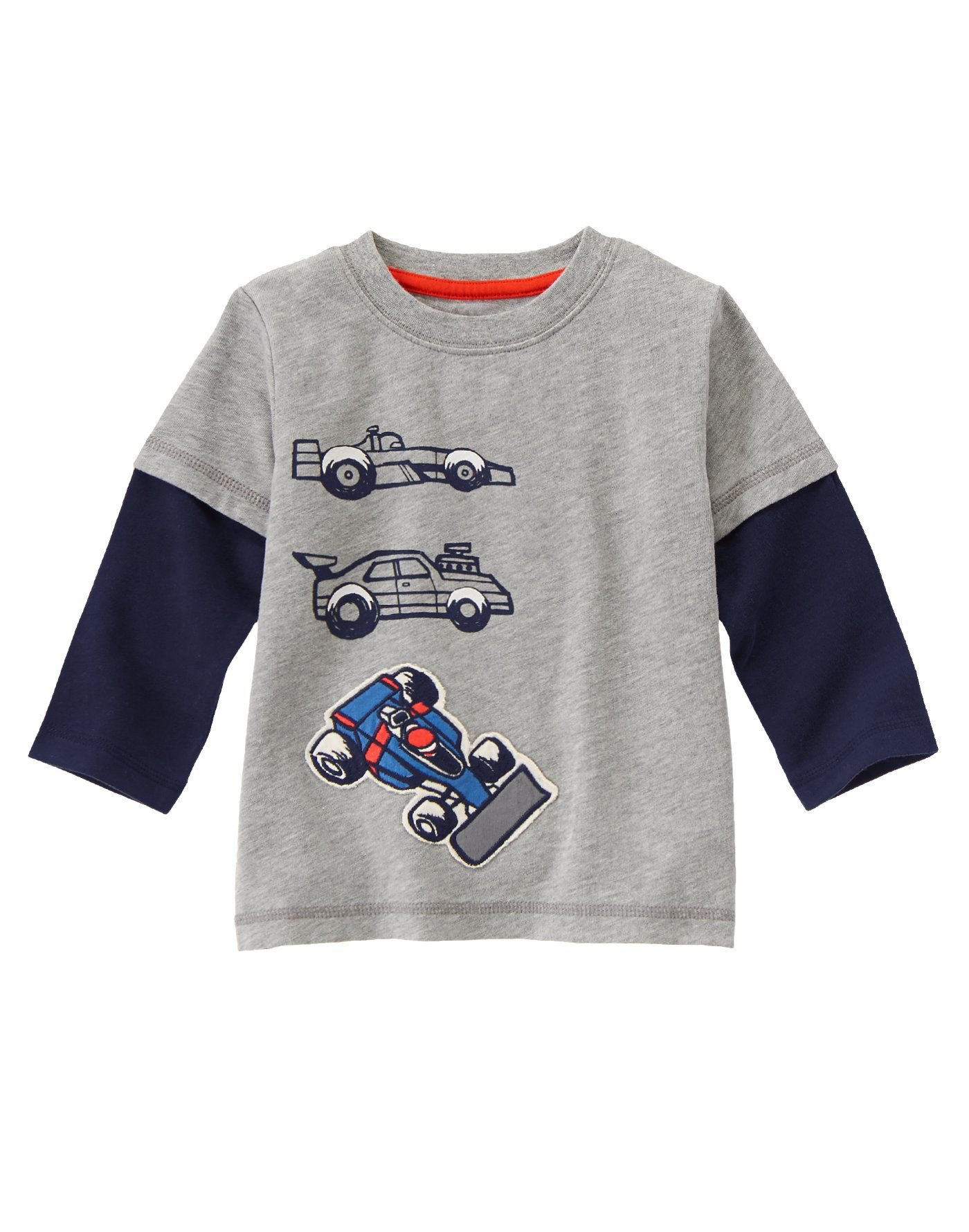 aca7f18918 Race Cars Long Sleeve Tee at Gymboree | Boys | Boys t shirts, Long ...