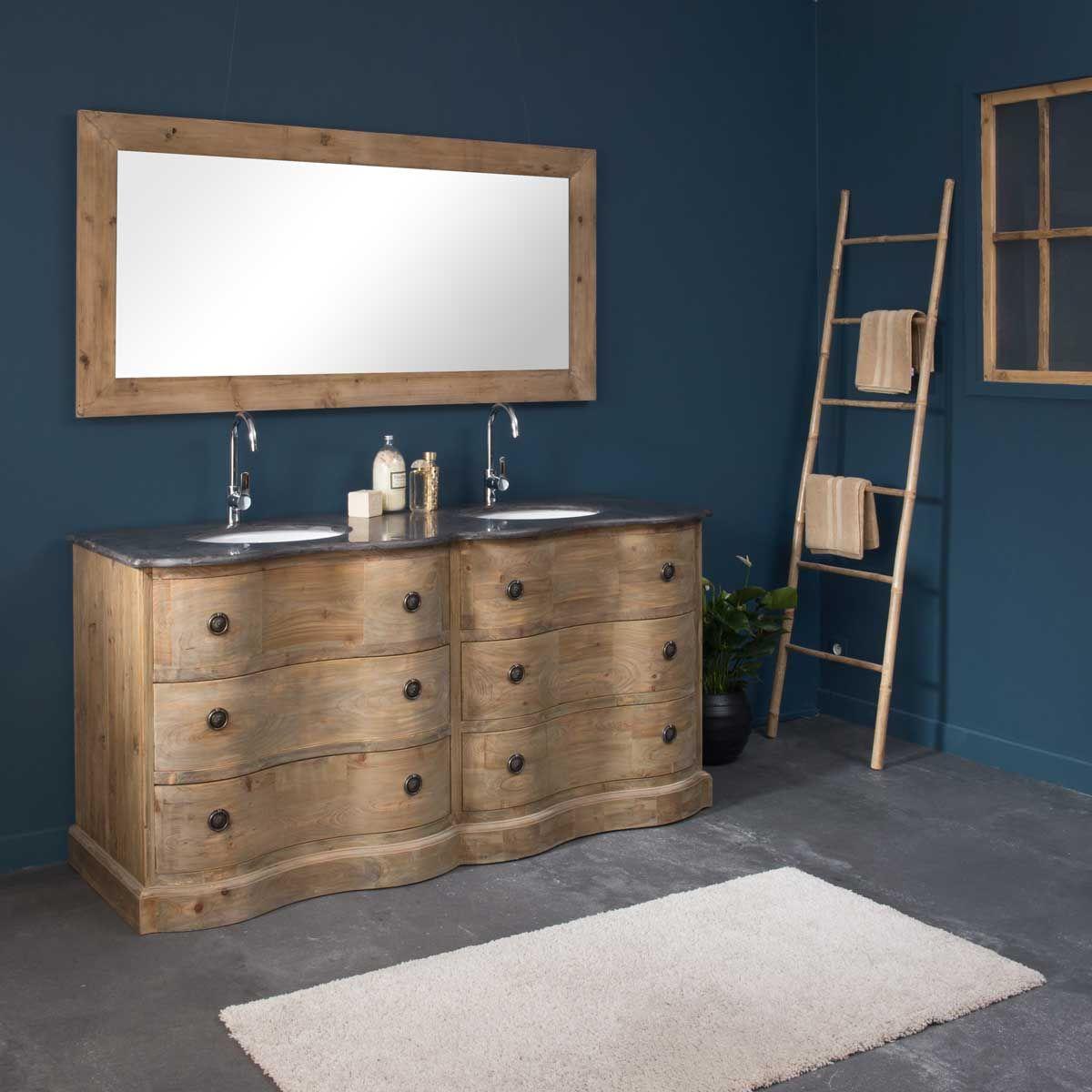 Meuble de salle de bain 2 vasques 4 tiroirs authentiq en Creer son meuble de salle de bain