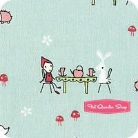 Enchant Aqua Tea Party Yardage SKU 3472-aqua Enchant by Cinderberry Stitches for Riley Blake Designs