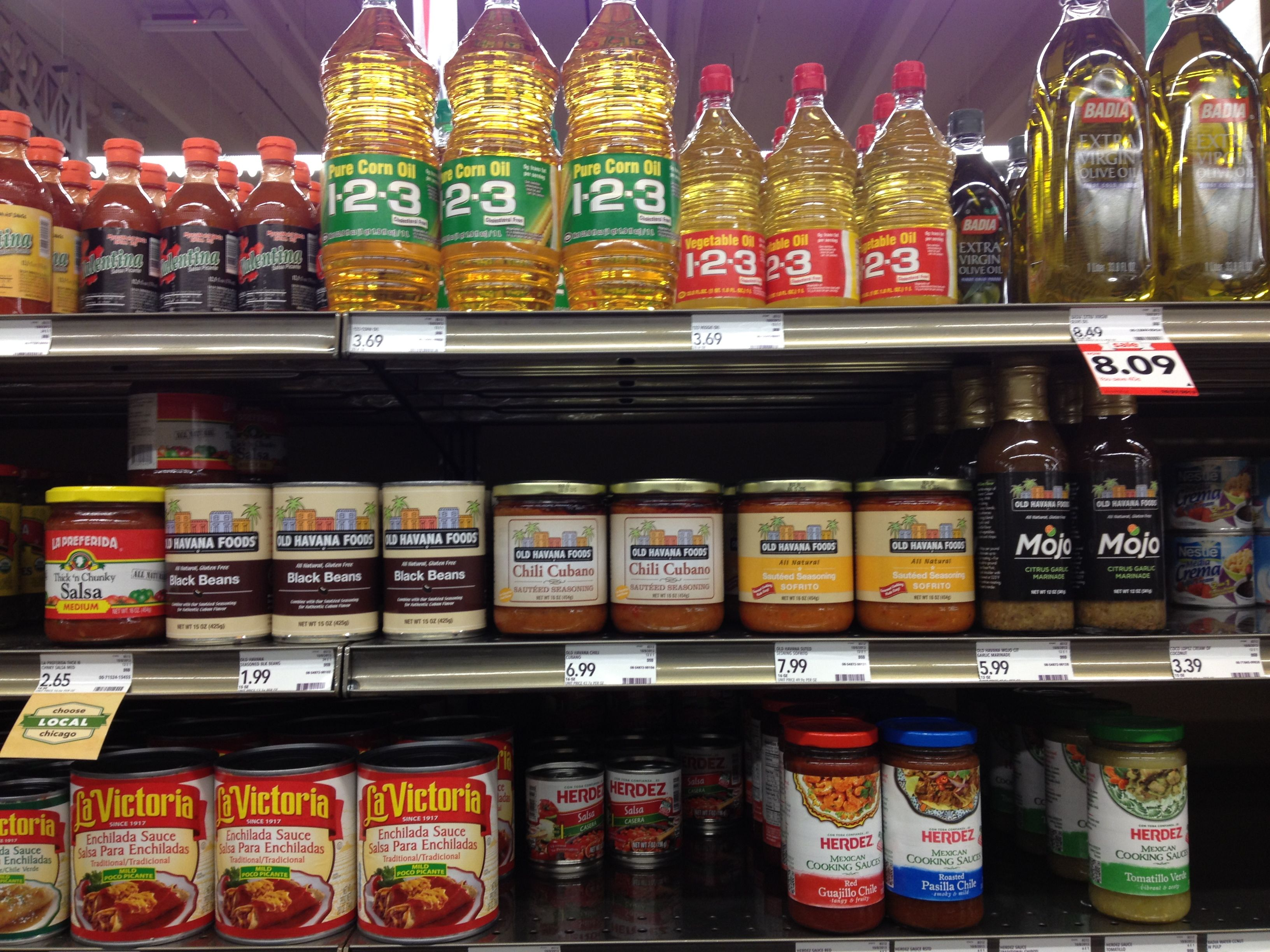 Mariano Grocery Store Aisle Signs