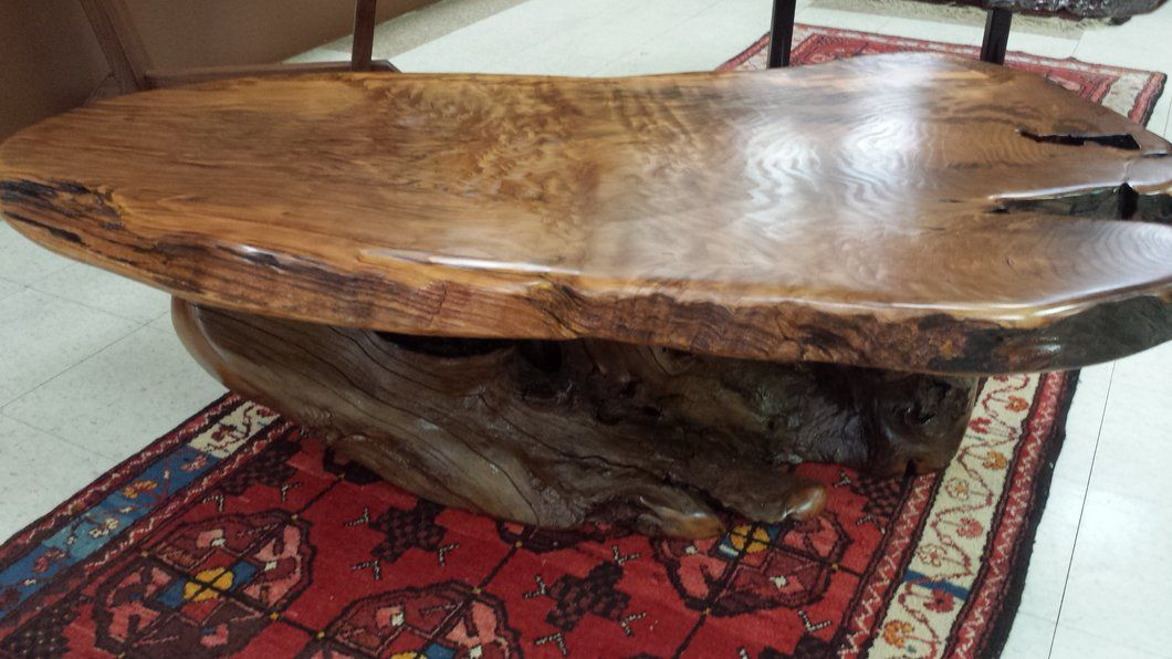 Redwood Coffee Table Table, Coffee table, Live edge table