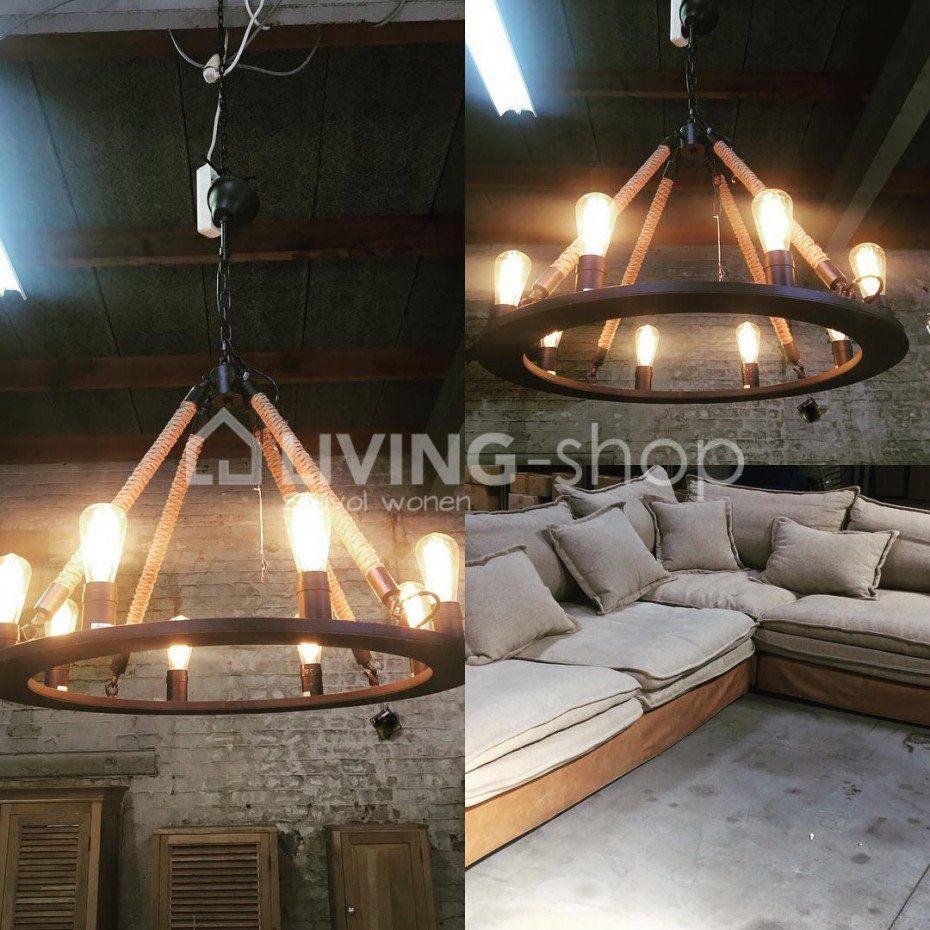 Cottage hanglamp cirkel luster industrieel - Luchter Nautic stijl ...