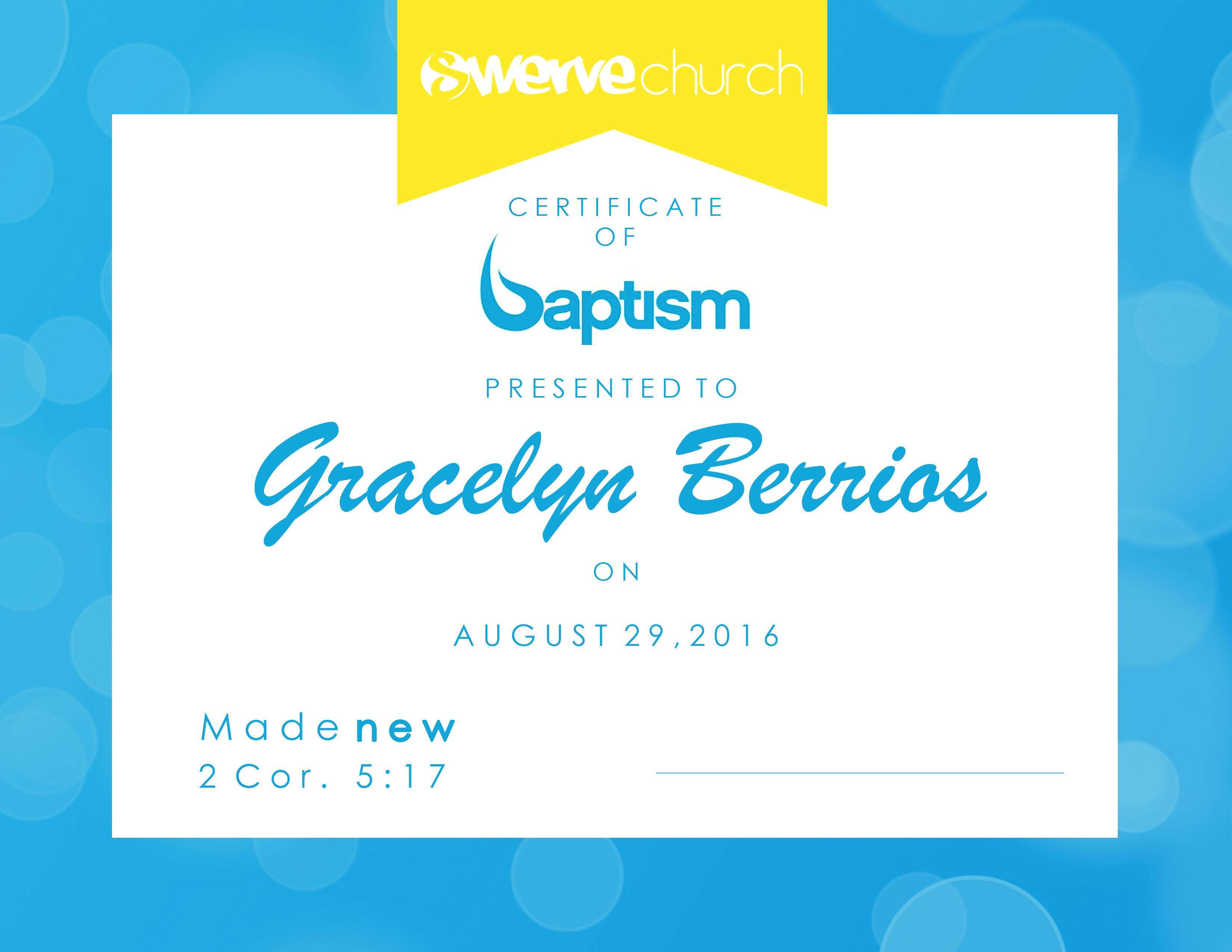 Baptism certificate church graphics pinterest certificate baptism certificate xflitez Images