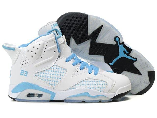 Product Name:buy nike air jordan 6 women shoes white blue online Model:  Nike1415