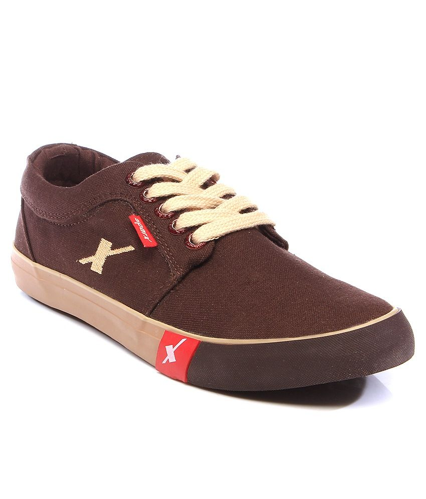 be1d1c7364 Sparx Brown Canvas Sneakers On LooksGud.in #Sparx, #Brown, #Canvas ...