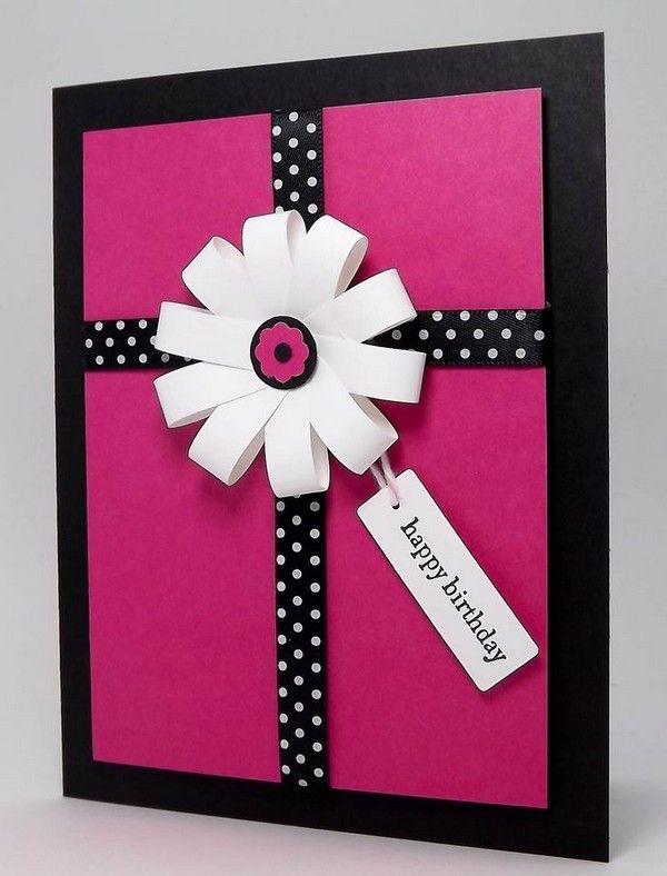 37 Homemade Birthday Card Ideas And Images Card Ideas Handmade