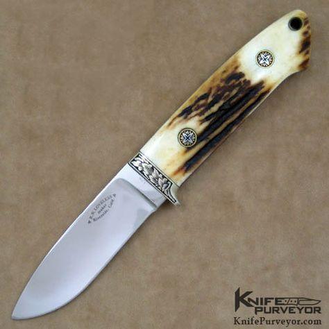 custom knives | Custom Knife Stag Hunter Engraved by Ron Skaggs - Bob Loveless custom ...-SR