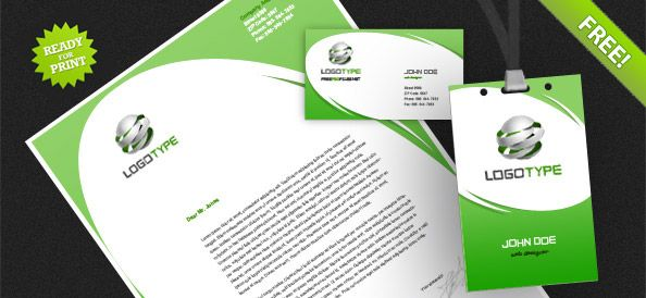 Free Corporate Identity Pack PSD Print Templates Pinterest - psd letterhead template