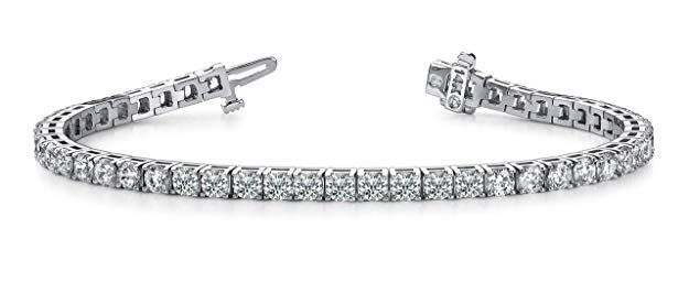 3 Carat Clic Diamond Tennis Bracelet 14k White Gold Value Collection