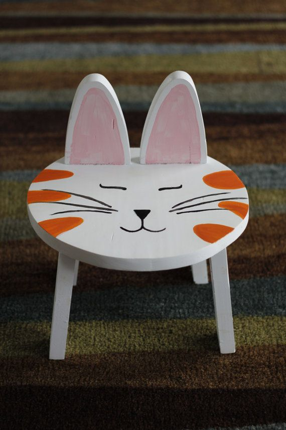 Child S Animal Stool Chair By Brandnewtome On Etsy