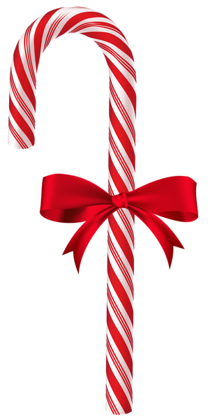 Candy Cane With Red Bow Png Clip Art Image Tiaras