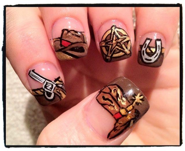 western themed nail art - Western Themed Nail Art Nails Pinterest Frozen Nails