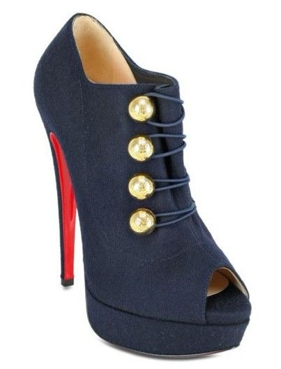 Dont like it pero ami princess seguro que si!    Christian Louboutin Ankle Boots Blue http://www.cheaplouboutinsbuy.com/sale/Christian-Louboutin-Ankle-Boots-Blue-Louboutin