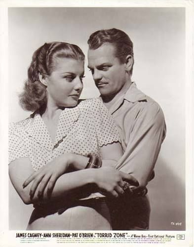 """James Cagney and Ann Sheridan in a publicity shot for """"Torrid Zone""""."""