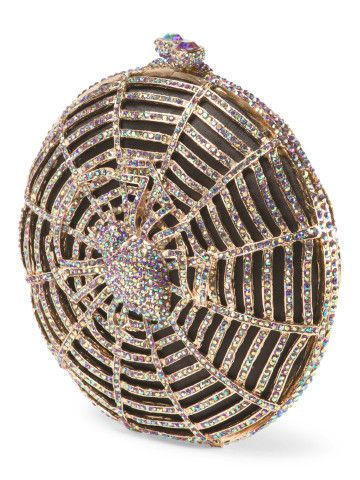 Spider Crystal Clutch - Clutches & Wallets, Get glam for Halloween!
