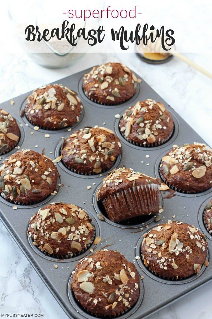 Superfood Breakfast Muffins With Rowse Manuka Honey My Fussy Eater Easy Kids Recipes Recipe Superfood Breakfast Healthy Breakfast Muffins Healthy Muffins