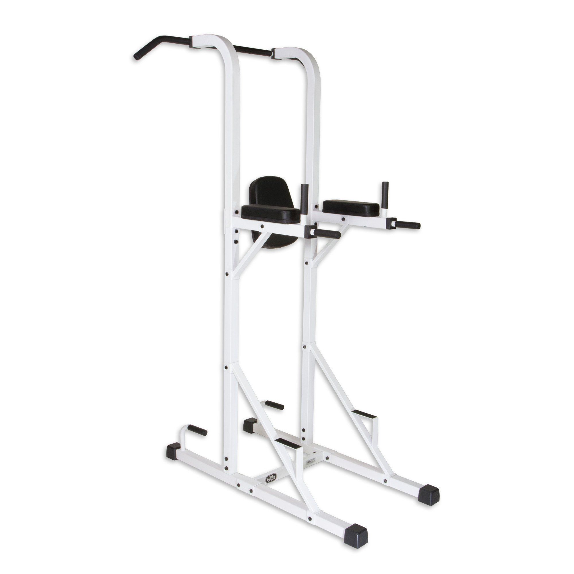 Xmark Fitness Multi Function Power Tower With Vertical Knee Raise Push Up Bar Press Handles Grey Dip Station