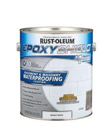 Epoxyshield Basement Masonry Waterproofing Coating Creates A Waterproof Barrier On Interior Or Exterior Vert Waterproofing Basement Masonry Waterproof Paint