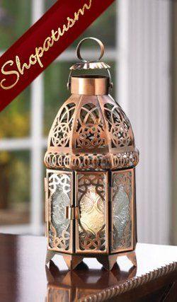 12 Wholesale Lanterns Copper Wedding Centerpieces Moroccan Lanterns Bulk Lot Moroccan Candles Candle Lamp Candle Lanterns