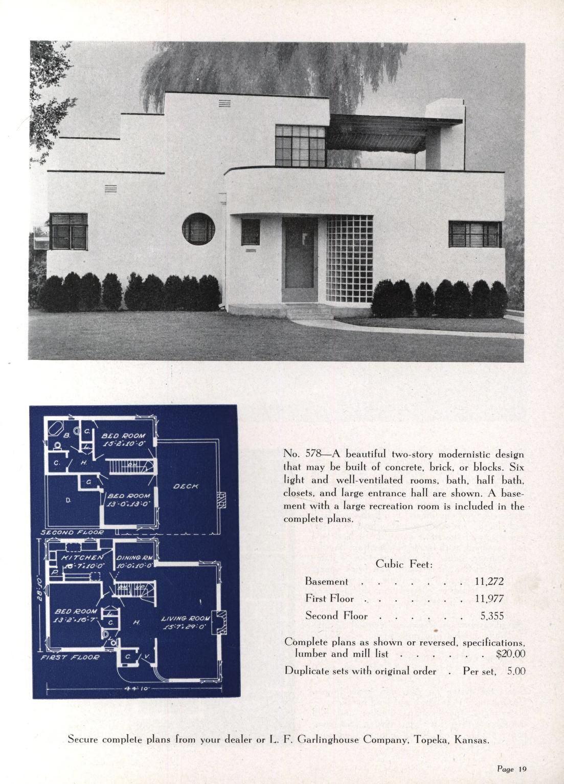 Artistic Homes 6th Ed Art Deco Home Vintage House Plans Streamline Moderne Architecture