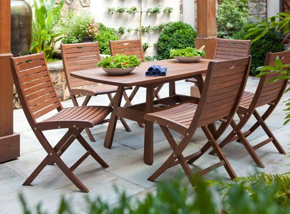 Dining Set Teak Outdoor Furniture Outdoor Wood Furniture Outdoor Patio Chairs