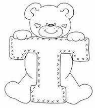 Resultado de imagen para moldes de osos en foami con letras