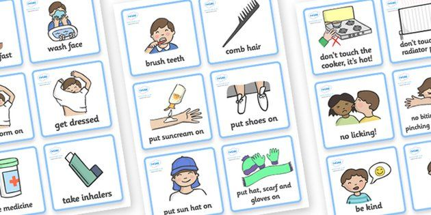 Sen Communication Cards Daily Routine Boy  Sen Communication