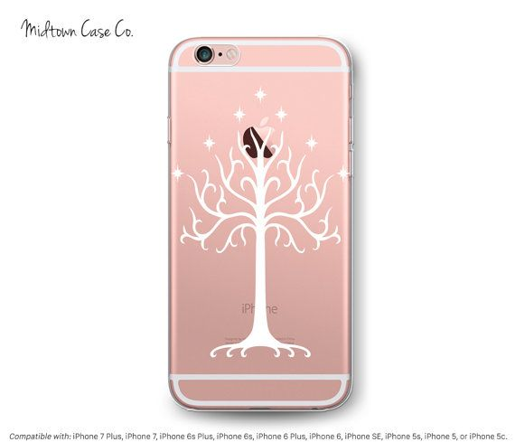 sneakers for cheap d9962 67b2d iPhone 7 Clear Case White Tree of Gondor Middle Earth Lord of Rings ...