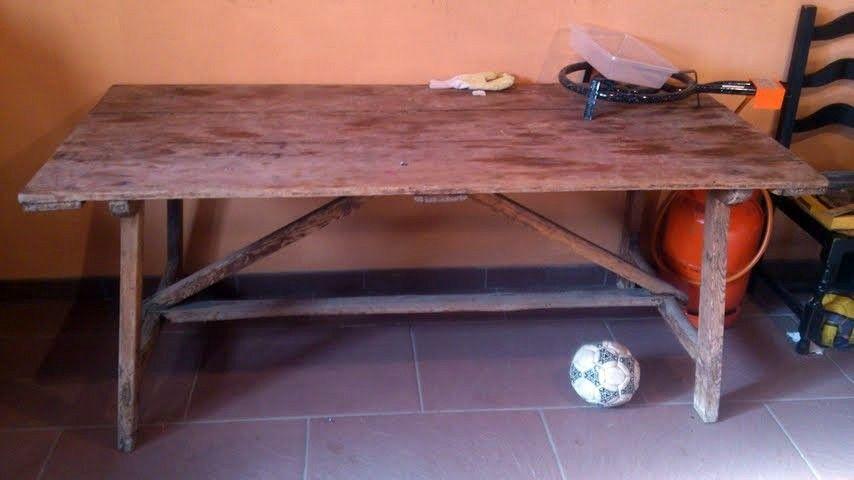 mesa vieja madera - Buscar con Google   Al sur de Granada ...