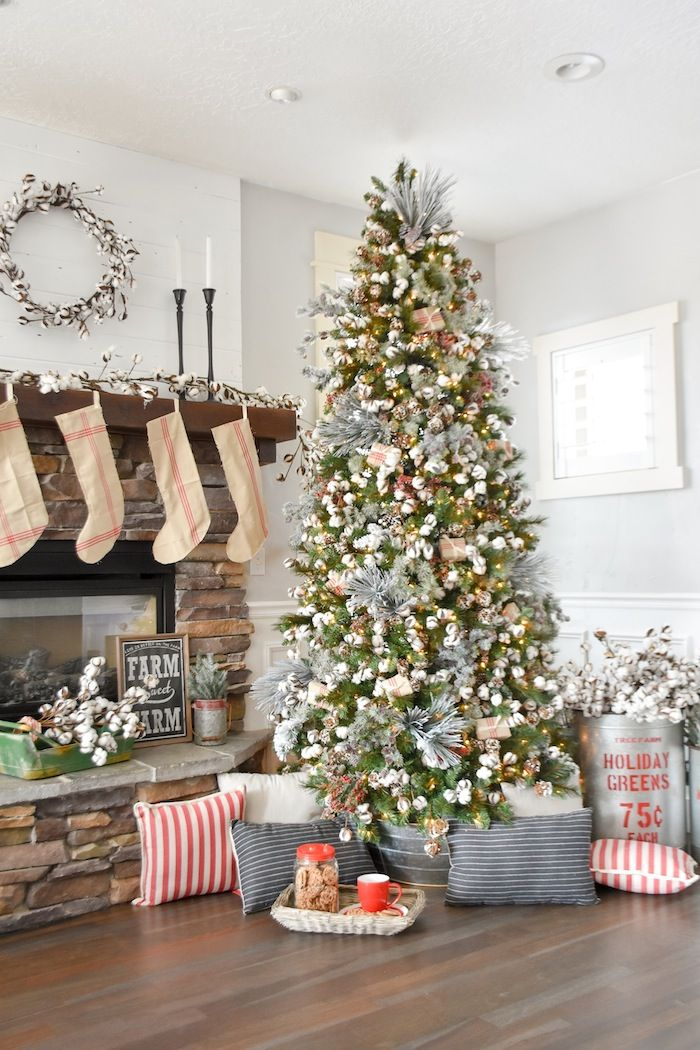 farmhouse christmas tree modern farmhouse holiday decorating 2018 karas party ideas karaspartyideascom