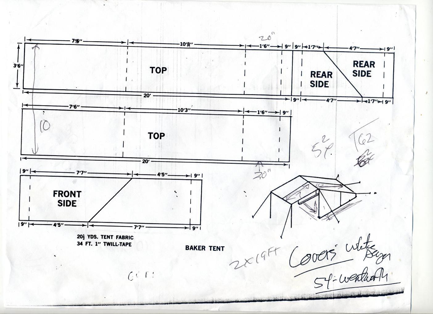 Baker style tent new apartment pinterest tents for Canvas tent plans