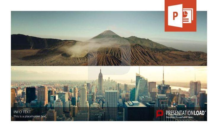 Gegensätze machen deutlich: Profitieren Sie vom Kontrast Stadt und Berge bei Ihrer nächsten Präsentation. Diese und weitere Folien finden Sie bei http://www.presentationload.de/bildfolien-layouts.html