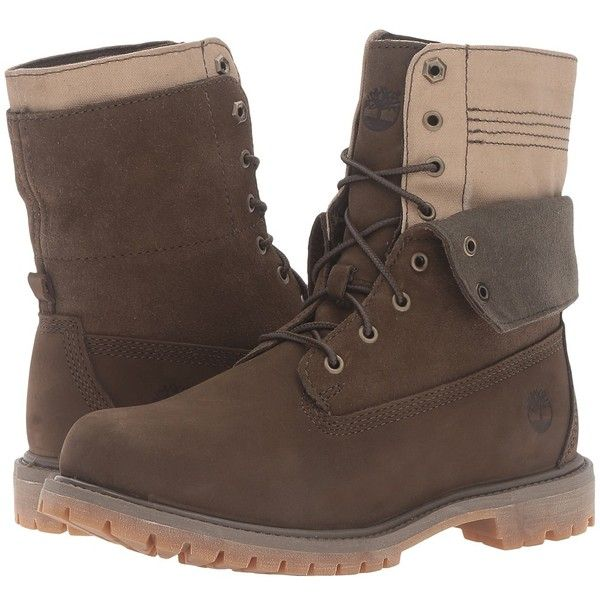 Timberland Authentics Double Fold-Down Boot (Olive Nubuck) Women's... (