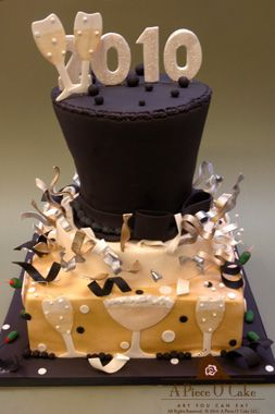 new years eve cake | New year's cake, Holiday cakes, New ...