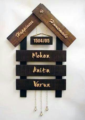 Beautiful Nameplates Name Plates For Home Door Name Plates Name Plate Design