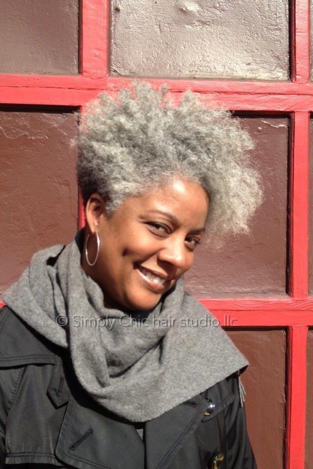 A Beautiful Natural Gray Mane Natural Gray Hair Natural Hair Styles Hair Styles