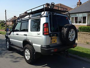 landrover discovery gs auto td5 2003 53 silver estate 4x4 monster lift kit land rover land. Black Bedroom Furniture Sets. Home Design Ideas