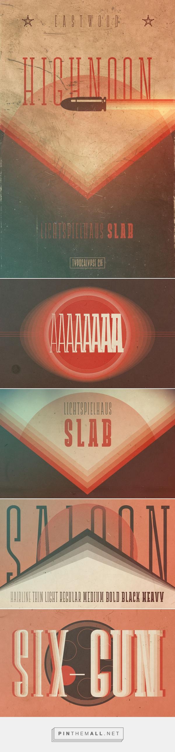 Lichtspielhaus Slab – A Type Noir on Behance - created via https://pinthemall.net