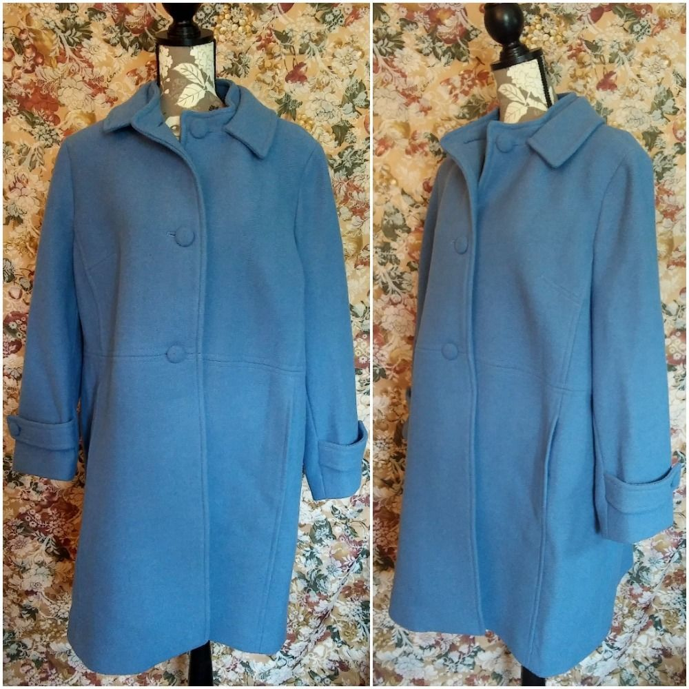 Sag Harbor Blue Quilted Duster Pockets Bathrobe for Women House Coat Sizes S-XL