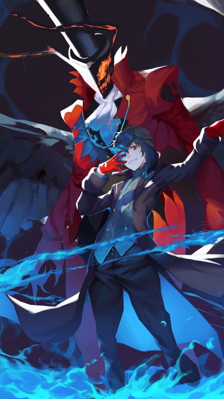 Akira kurusu, Persona 5, anime, video game, 720x1280