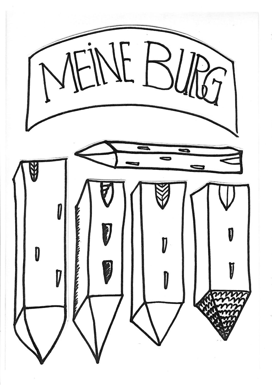 Meine Burg Kopiervorlagen Fur Burg Collagen Unterrichtsmaterial In Den Fachern Kunst Sachunterricht Kunst Grundschule Unterrichtsmaterial Collage