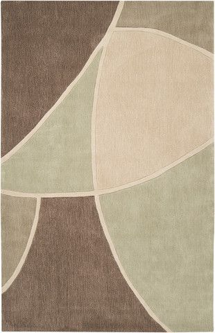 Cosmopolitan Collection Area Rug In Sage Green Sand And Tan Design