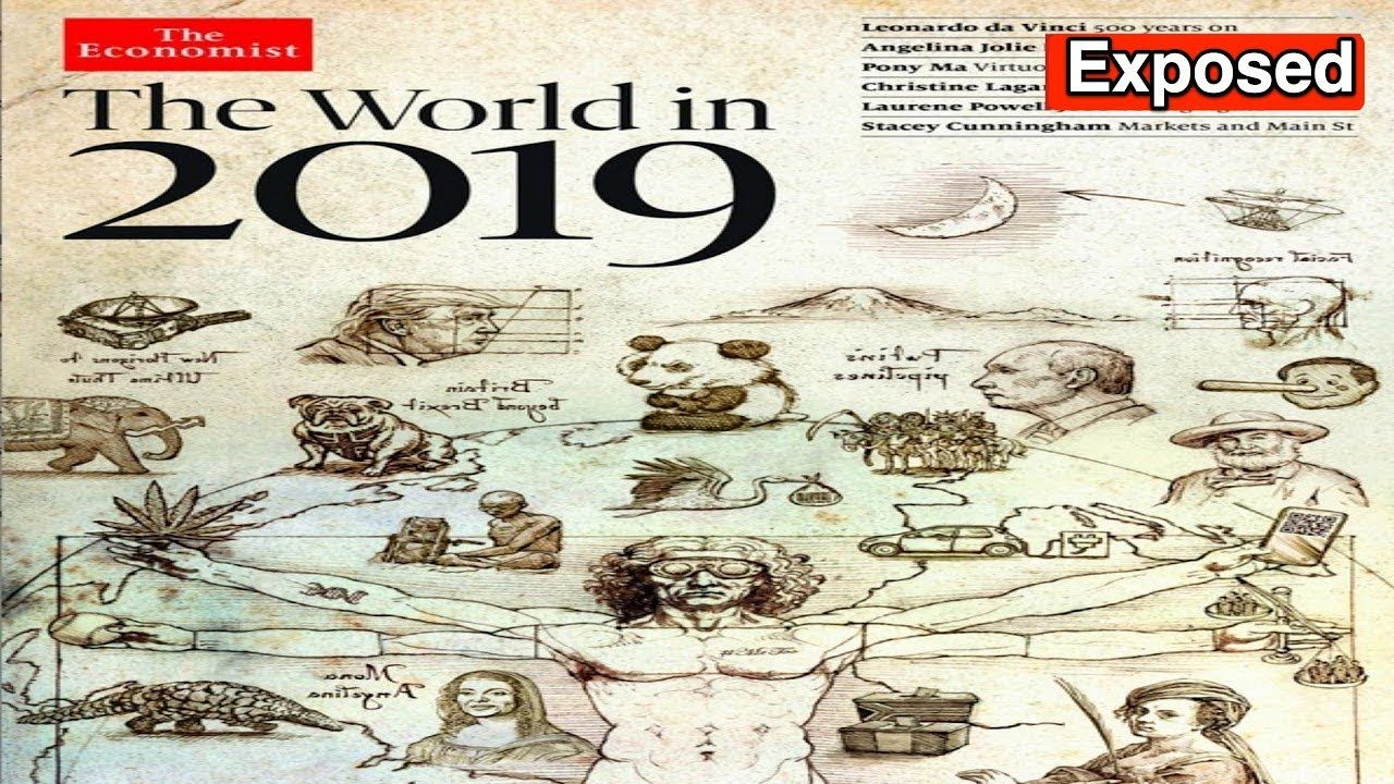 """Cryptic Messages on The Economist's """"The World in 2019"""