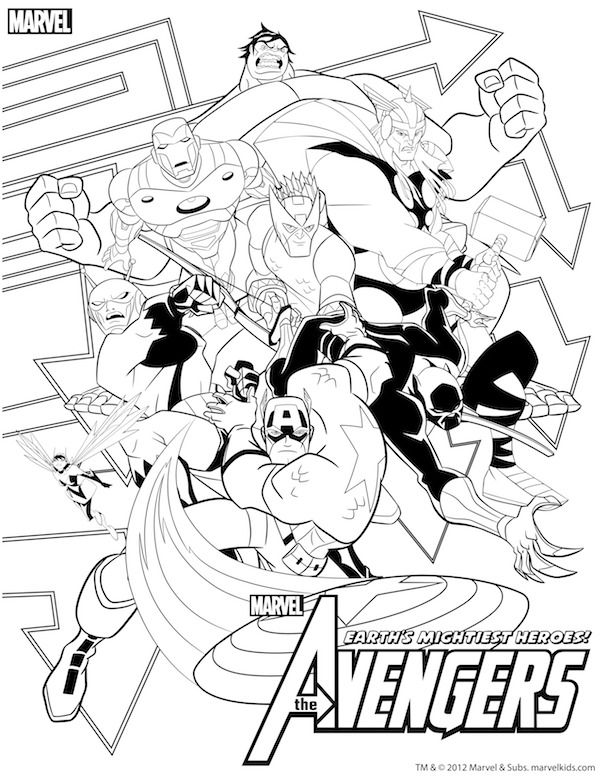 photo regarding Avengers Coloring Pages Printable named Superhero Printables Avengers Get together Avengers coloring