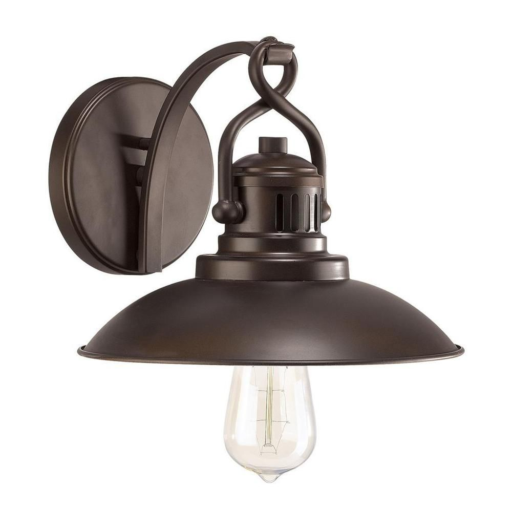 Urban Retro Wall Sconce In Burnished Bronze   Overstock™ Shopping   Top  Rated Capital Lighting Sconces U0026 Vanities