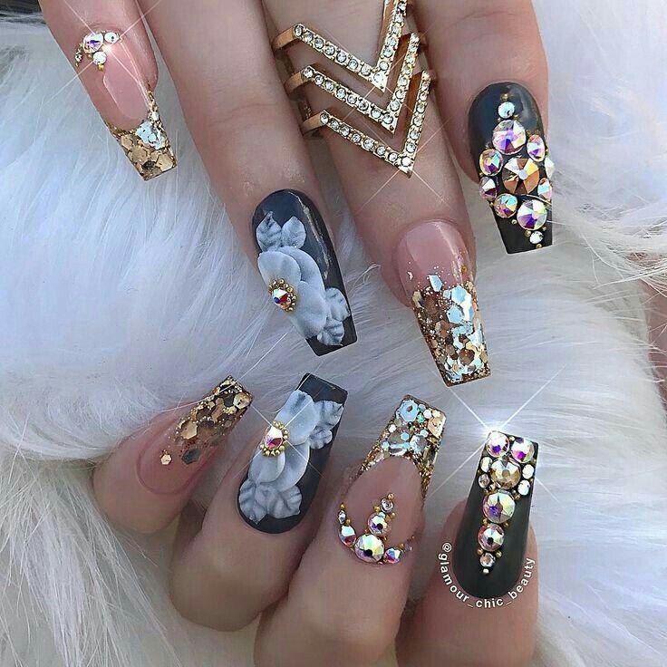 Pinterest Anahi Luxury Nails Nail Designs Coffin Nails Designs